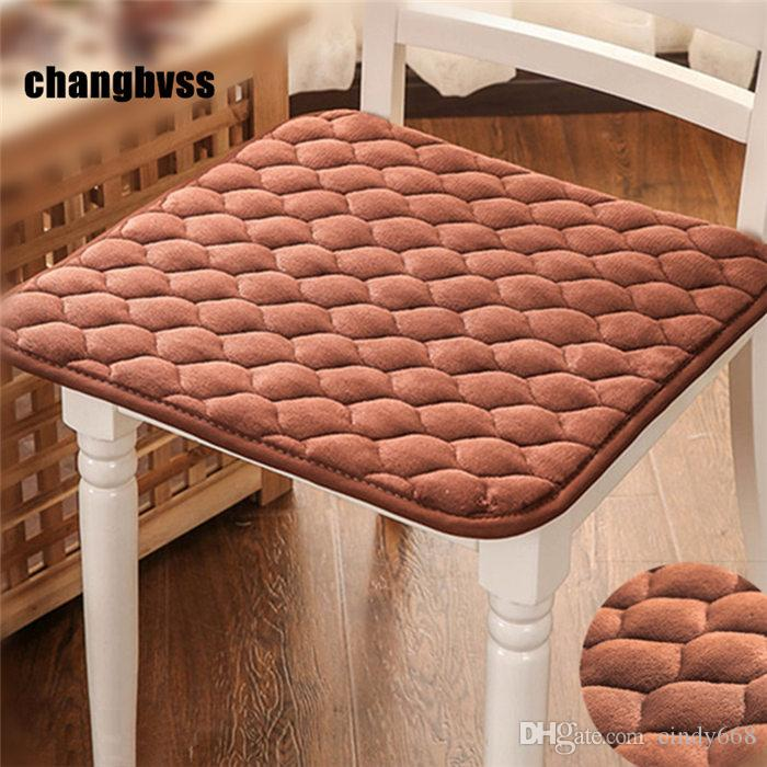 Short Velvet Modern Cheap Car Seat Cushion Dining Mat Pad 1Pcs Kitchen Chair Cushions Mat Floor Cushions Home Decor almofada decorativa