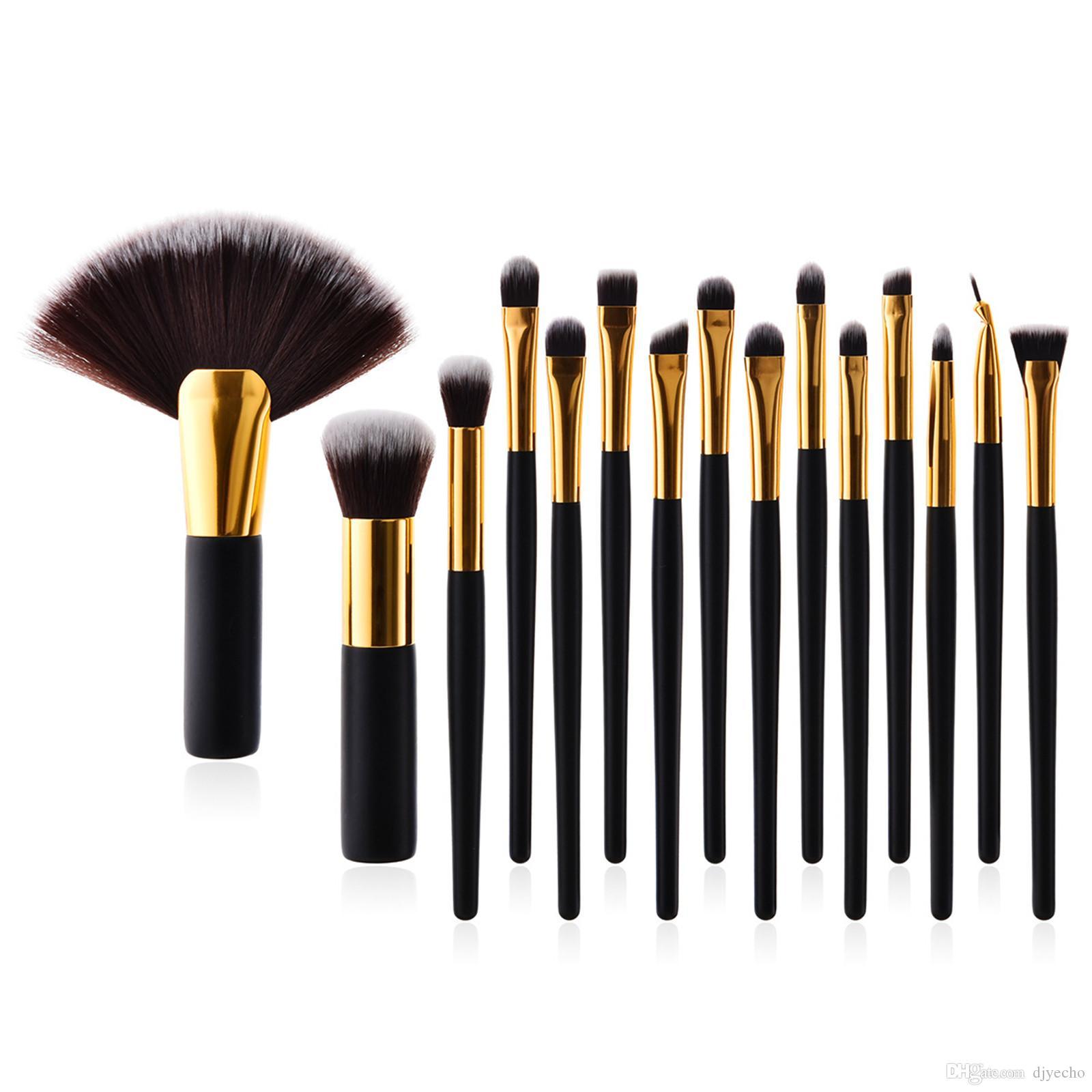 15 Adet Makyaj Fırçalar Seti Profesyonel Pudra Fondöten Karıştırma Göz Farı Yüz Makyaj Kozmetik Güzellik Araçları Kitleri
