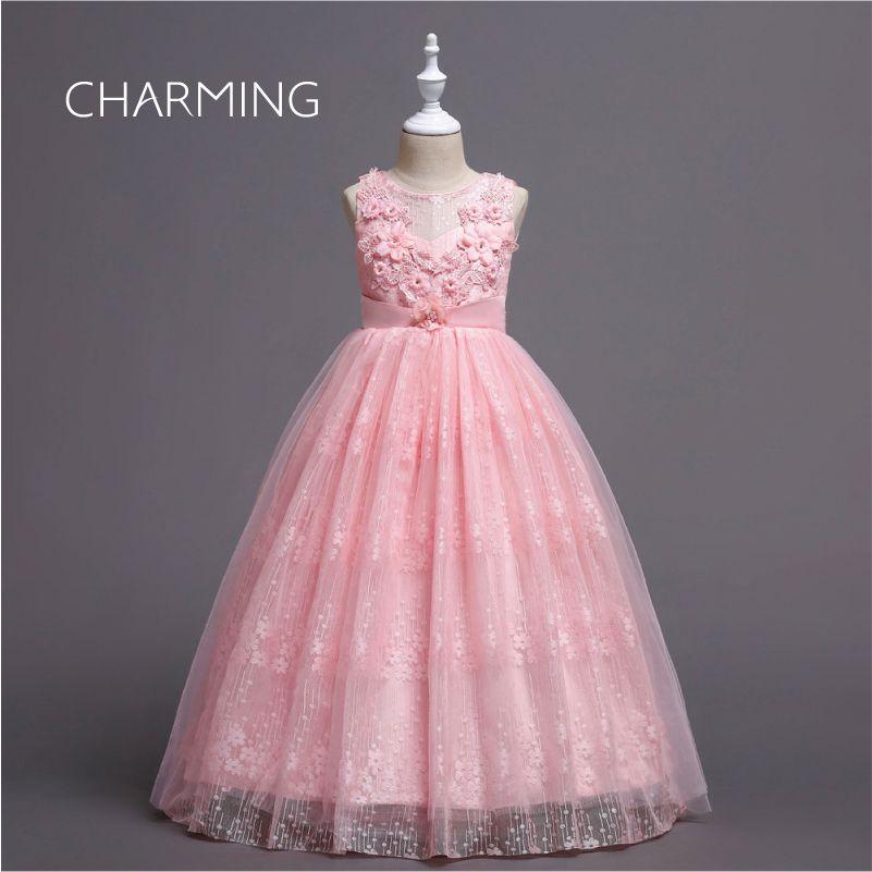 Kids dress beautiful flower girl dresses, Lace flower girl dresses, Party dress lace embroidery, Suitable for prom dresses, start season, we