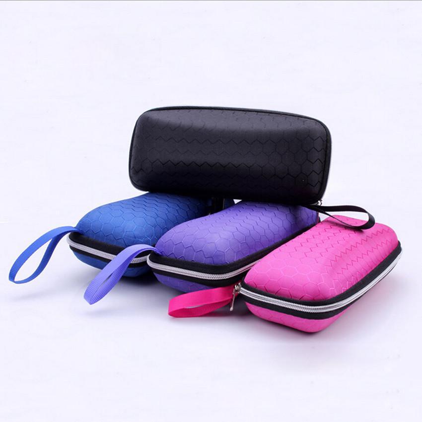 Fashion Eyewear Cases Cover Unisex Sunglasses Box with Lanyard Zipper Portable