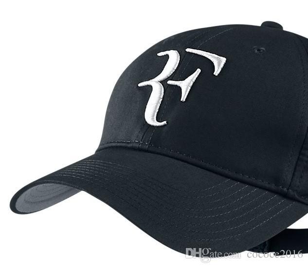 الرياضة قبعات روجر فيدرر rf عشاق التنس البيسبول كاب مش قبعات الصيف بارد الرجال النساء للتعديل للجنسين الكبار بارد صافي شبكة قبعة