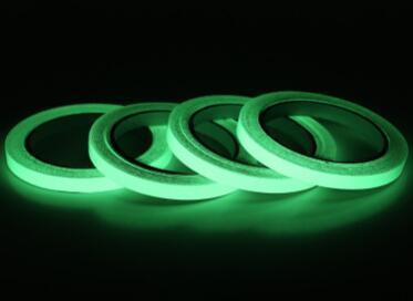 12 ملليمتر 3 متر الأخضر مضيئة الشريط ذاتية اللصق الشريط للرؤية الليلية يتوهج في الظلام السلامة المرحلة سيارة ملصقا المنزل فن زخرفة GGA718 120 قطع