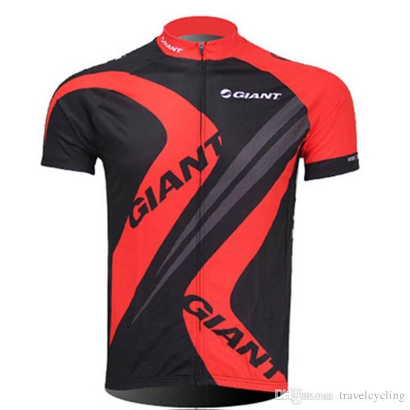 Hommes GIANT cyclisme à manches courtes Jersey Pro Fit Vélo de Route Tops VTT chemises à manches courtes respirant séchage rapide sportswear en plein air 122907Y