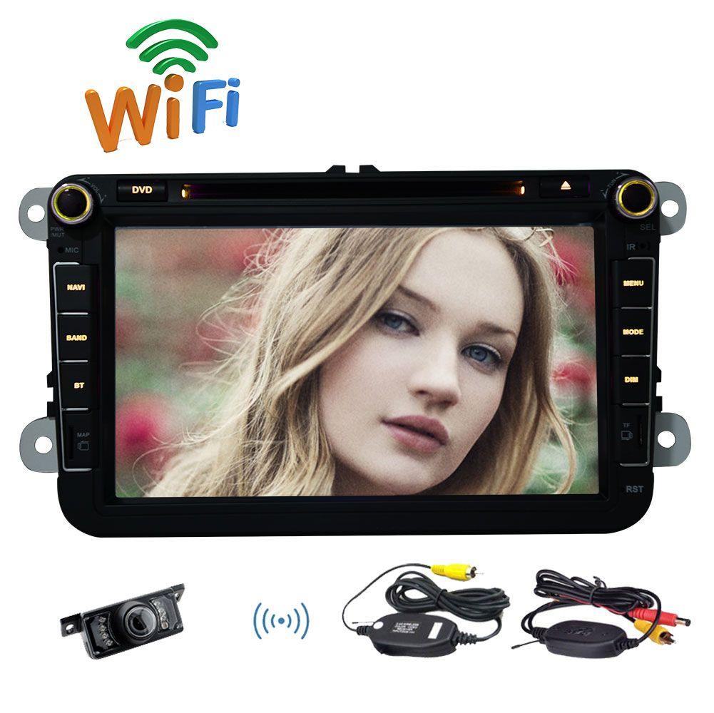 """Android 6.0 автомобильный DVD-плеер для Volkswagen Golf/Jetta/Passat/Bora/Touran/Tiguan 8"""" сенсорный экран двойной Din четырехъядерный автомобильный стерео GPS"""