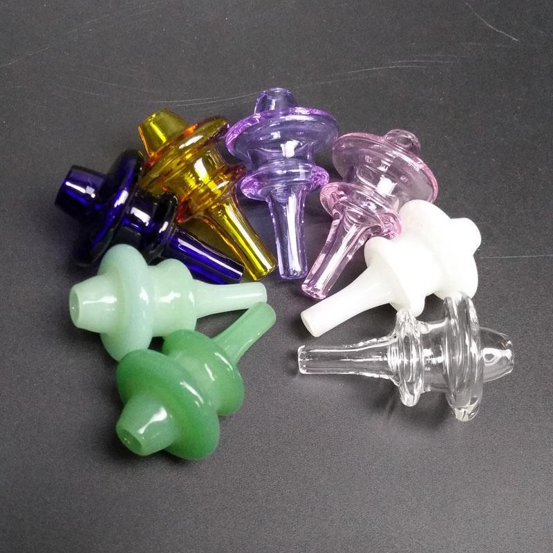 New Style colorido Universal vidro colorido UFO Carb Cap Dome para tubulações de água de vidro Dab Oil Rigs Quartz Banger Nails