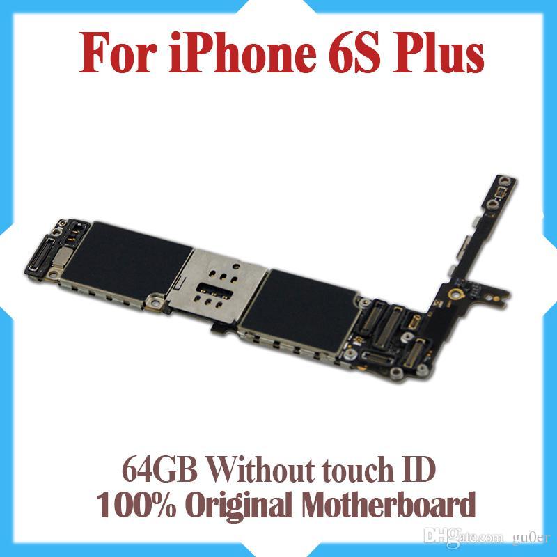 64GB ل 6 S زائد اللوحة الأم مع رقائق ، 100 ٪ الأصلي مقفلة ل 6 S زائد اللوحة الأم دون معرف اللمس ، والعمل الجيد