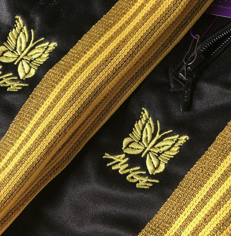 AWGE X NEEDLES ASAP ROCKY Pants Butterfly Embroidery Sweatpants Stripe Casual Trousers Men Women Couple Sports Pants Fashion HFLSKZ053