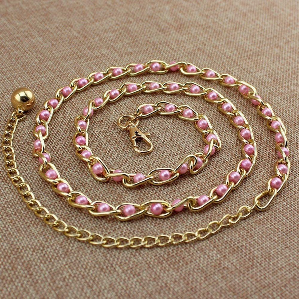 Tressé Femelle Plaqué Or Perle Perle Perles Chaîne Perle Taille Chaîne Ceinture