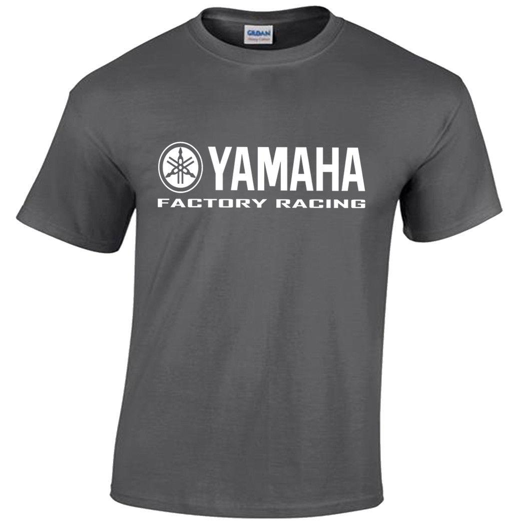 Yamaha T-shirt Factory Racing Logo Tee GP Motorcycle Motorbike Biker VR46 Mens