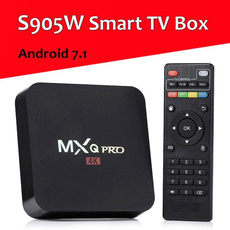 MXQ Pro Android 7.1 TV Box Amlogic S905W Quad Core 4K HD Smart Mini PC 1G 8G Wifi H.265 Smart Media Player