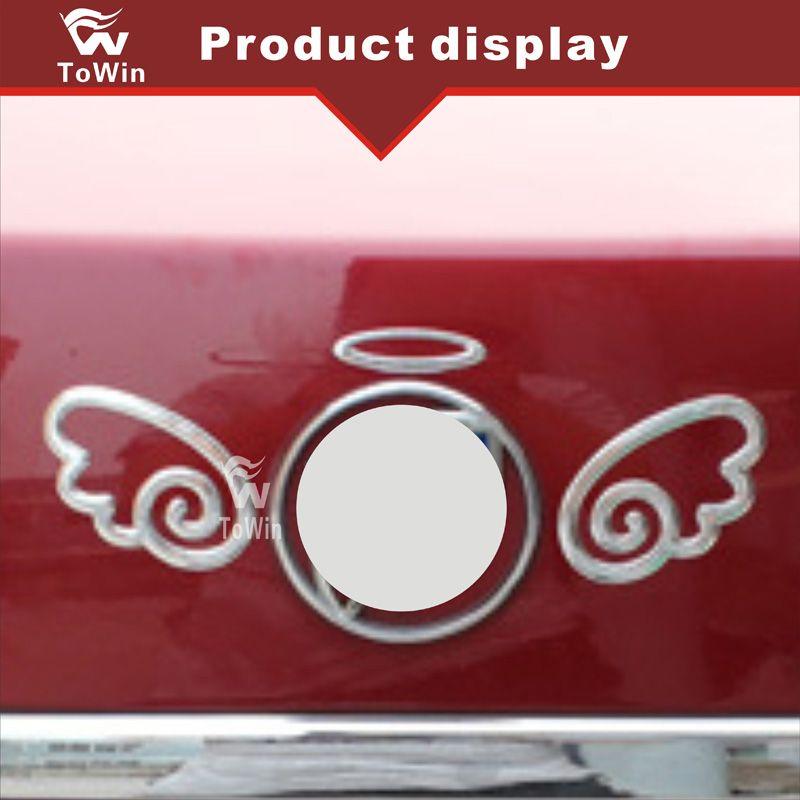 Evrensel 3D Melek Kanatları Araba Etiketler Çıkartmaları Gümüş Serin Tampon Çıkartmalar Araba Rozeti Amblemler / Dekorasyon / Aksesuarlar / Dışarı.