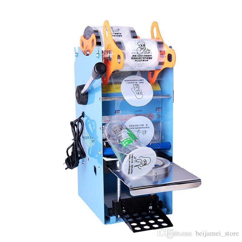 BEIJAMEI Yüksek Fincan 95mm 90mm Manuel Plastik Bardak Mühürleyen Yapıştırma Makinesi Suyu Kabarcık Çay Kağıt Yoğurt Bardak Mühürleyen Yapıştırma Makinesi