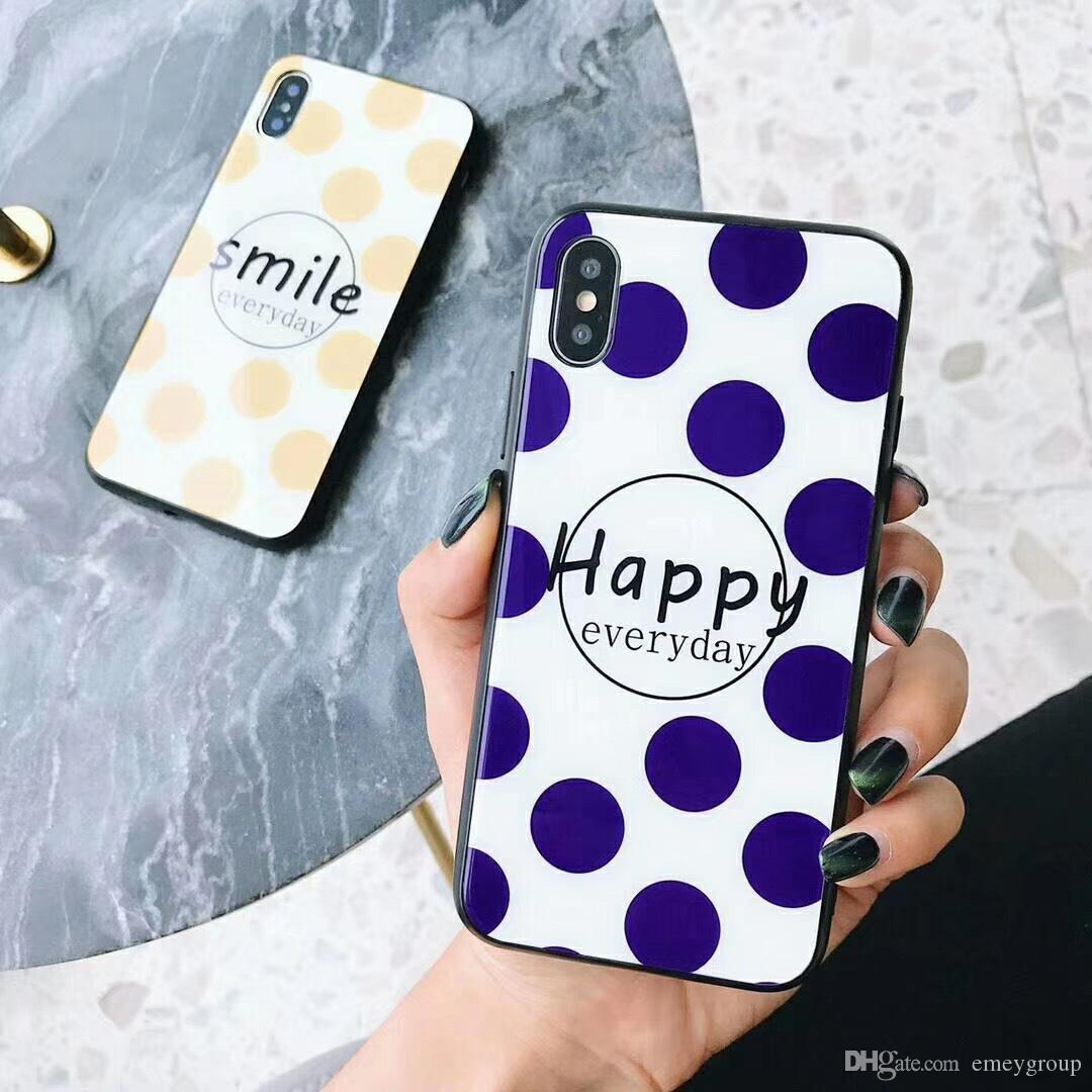 Fashion case For iphone x case SMILE For iPhone 10 Cover 7 8 6 6s plus TPU Back Cover+Tempered glass for iphone 6S case shell coque capa