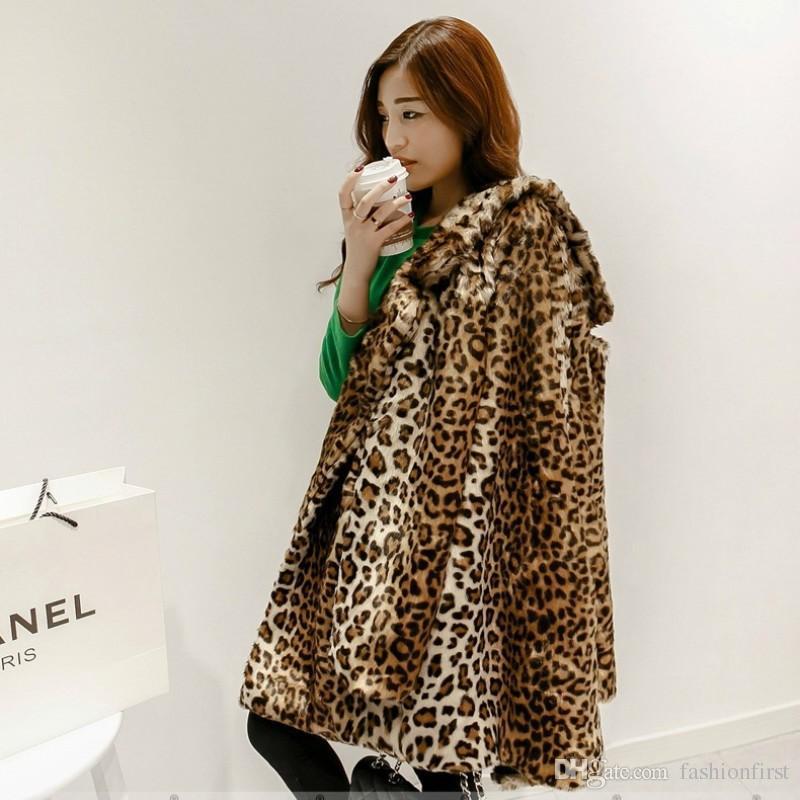 Von 1990er Jahre Leopardjacke Mäntel Jahre Mantel Fashionfirst Leopardenmuster Kunstpelz Frauen Großhandel Warm Gepard 90er Langen Winter Mantel KJlF1c