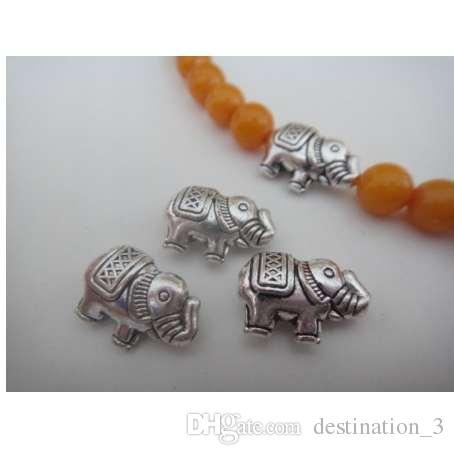 10pcs argento tibetano 3D Baby Elephant Beads misura accessori bracciale gioielli fai da te in metallo risultati 12.5 * 8.5mm Z1251