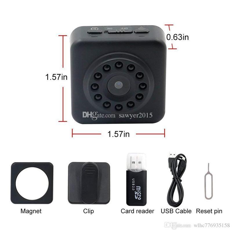 Mini cámara WIFI P2P Cámara IP D102 FULL HD 1080P IR Visión nocturna Sensor de movimiento Monitor remoto Micro Cam