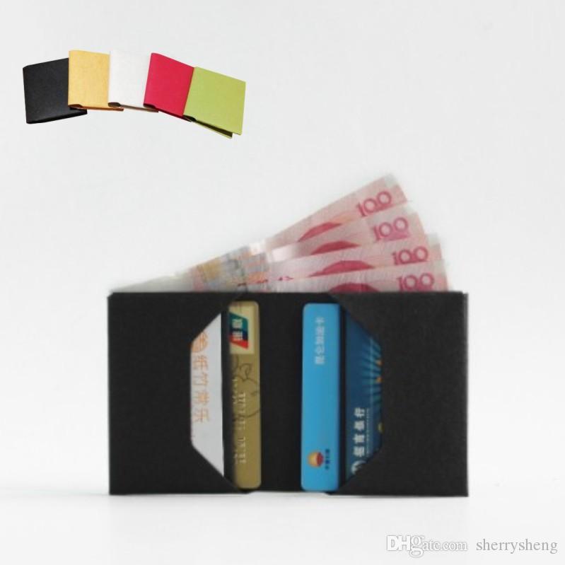 قابل للغسل ورق الكرافت محفظة بيئة freindly سلة عملة محفظة جيب جلدية حالة قصيرة WALLE و burse حامل تغيير بطاقة الحقيبة