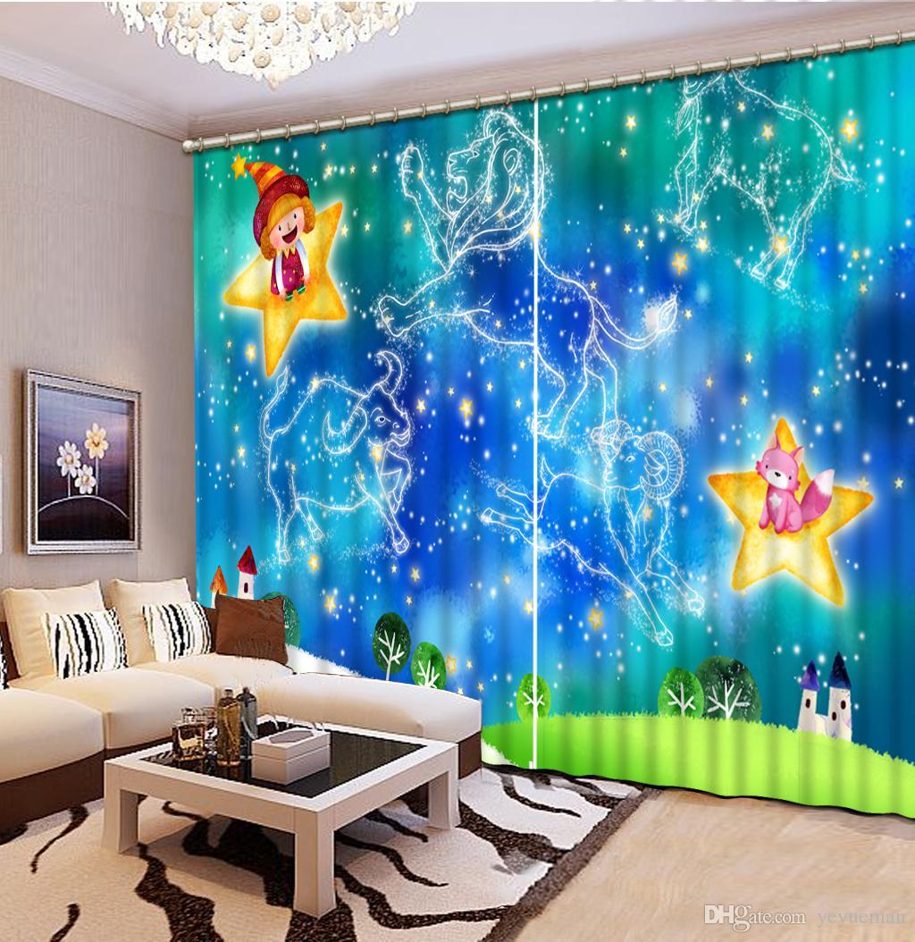Европейский стиль Современный занавес dream Room гостиная отель Окна Шторы