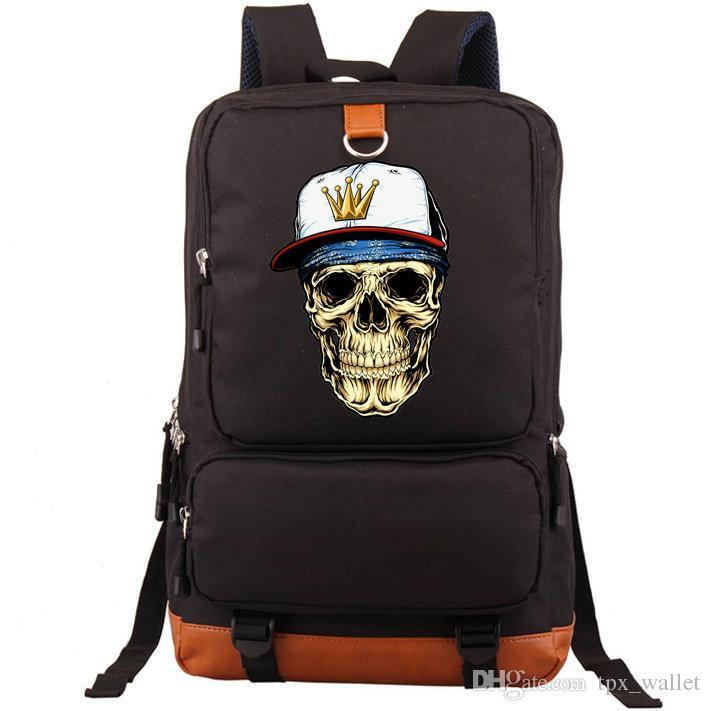 Rap Rucksack Cap Skull Daypack Hip Hop Hut Schultasche Freizeit Rucksack Sport Schultasche Outdoor Tagesrucksack