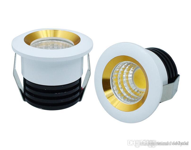 3W COB Led Down Lights Мини-Шкаф Светильники с регулируемой яркостью Светодиодный прожектор Потолочные светильники со светодиодным драйвером переменного тока 110-240V / 12V