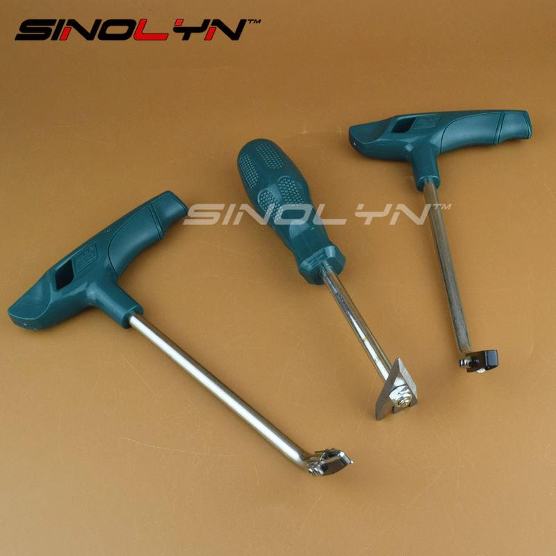 SINOLYN Ouvrir Phare Logement douane outil colle froide Couteau outil pour enlever la colle d'étanchéité à froid Faire fondre de voiture 3 PCS Headlamp