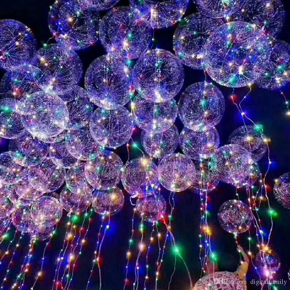 """bobo topu dalga LED dize 5 metre 18 """" 24 """" 36 """" balon ışık Noel Cadılar Bayramı düğün parti ev dekorasyon için Pil ile"""