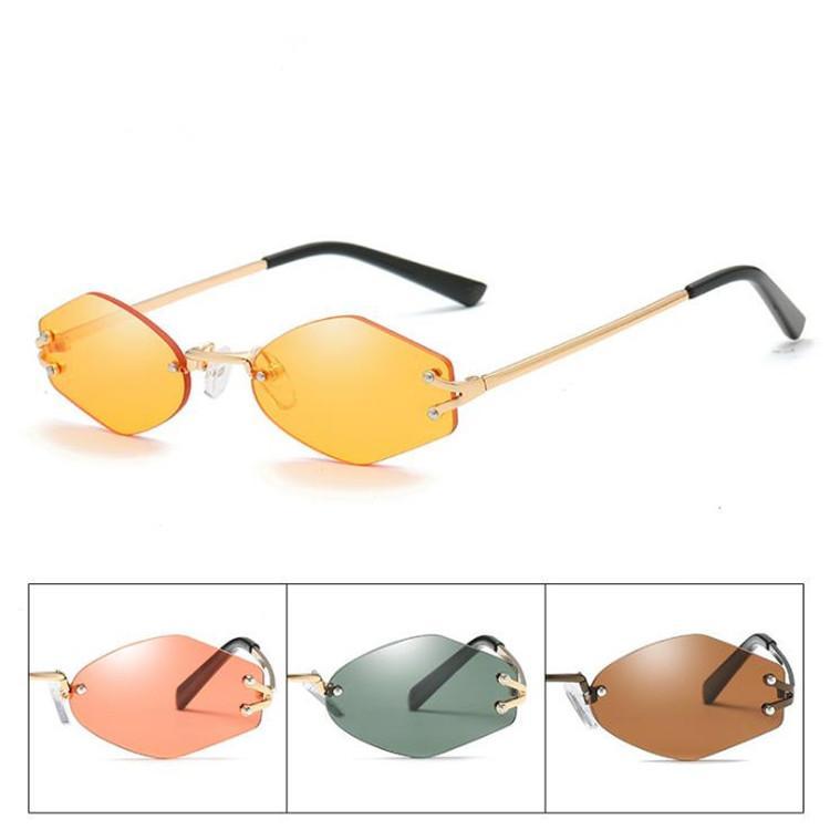 Mens Anti UV Katzenauge gespiegelte Sonnenbrille Shades Metallrahmen Brillen