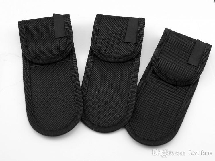 حار بيع edc الأسود نايلون الحقيبة غمد حقيبة لطي سكين أداة حزام الظهر كليب حالة FF-K033