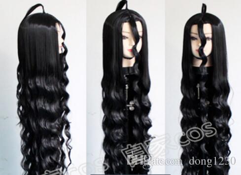 Улице dangan Ronpa супер Danganronpa 2 адррес kamukura Izuru черные волосы косплей парики 150см
