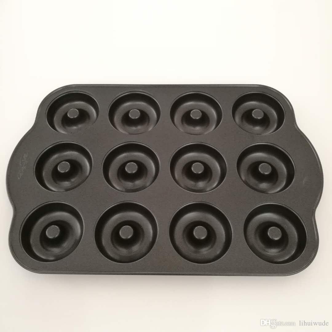 12cup 도넛 팬 (완벽한 비 점착 코팅, FDA, LFGB 표준)