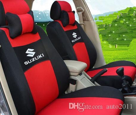 Car seat protector for Suzuki Models s cross swift sx4 vitara 3D mesh polyester car seat cover full set pillows free