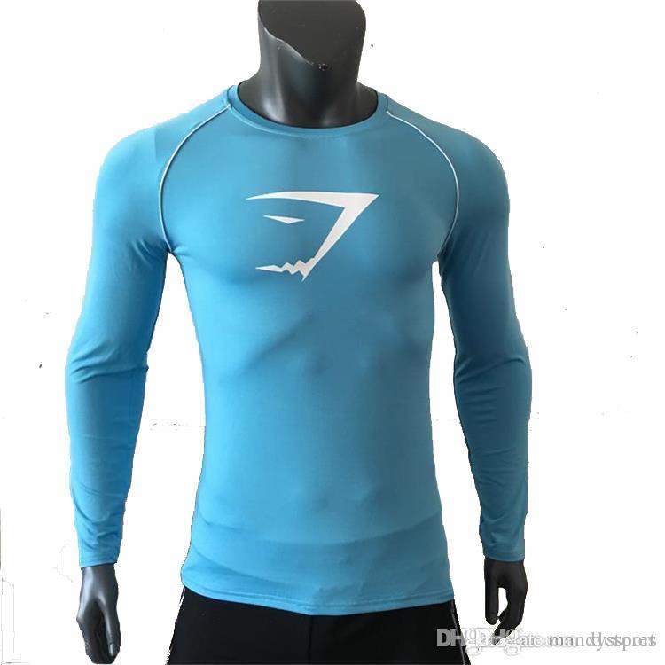 YD New Langarm Sport Shirt Männer Quick Dry Herren Lauf T-Shirts Snake Gym Kleidung Fitness Top Herren Rashgard Soccer Jersey