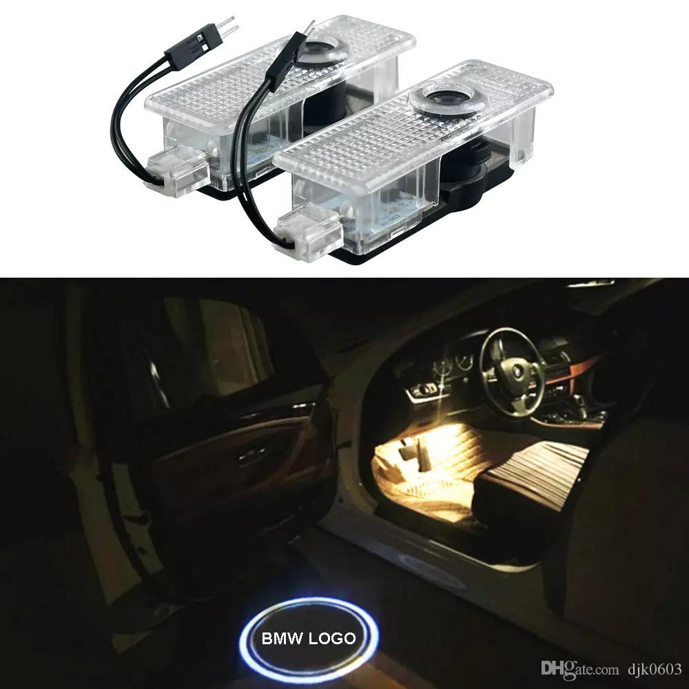 2pcs LED 차 문호 프로젝터 로고 로고 BMW E60 M5 E90 F30 F10 X5 X3 X6 X1 GT E85 E70 E71 E71 E81 E82 E92 E93 E93 F15 F16
