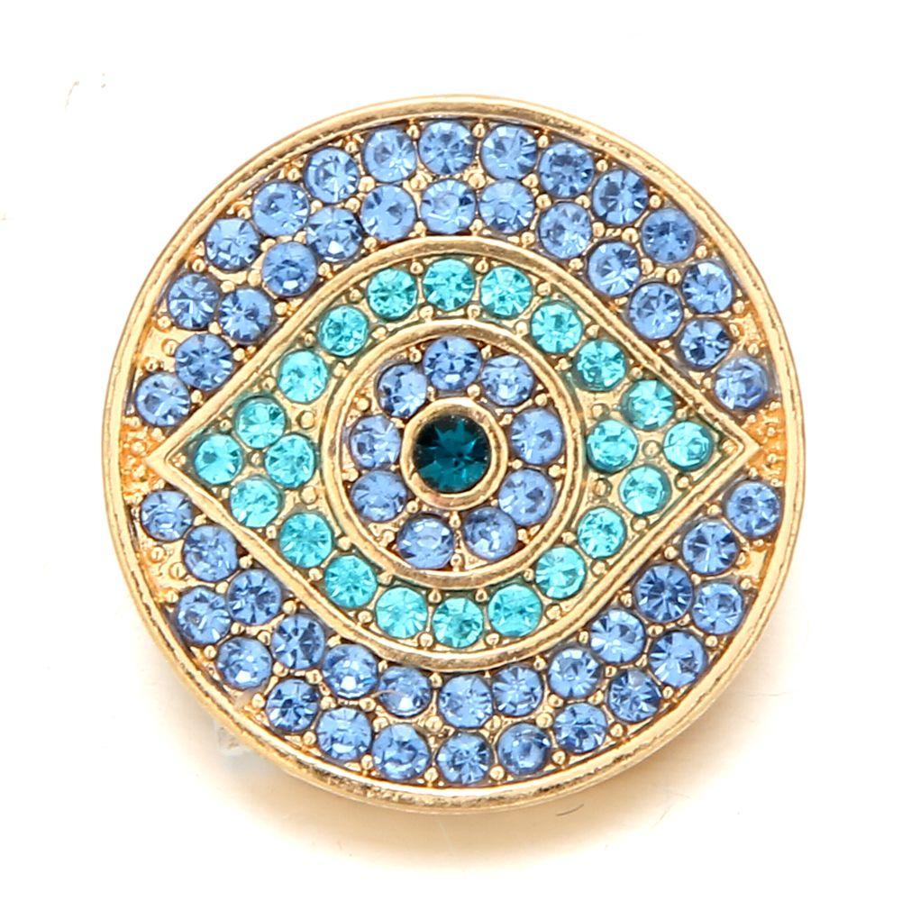 Noosa Chunks gold color botones a presión jengibre para 18 mm a presión botón collar pulsera accesorios de la joyería