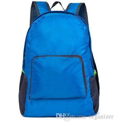 4 Renkler Açık Seyahat Taşınabilir Çanta Katlama Hafif Su Geçirmez Sırt Çantası Spor Çantası Sürme Cilt Çanta Depolama Sırt Çantası 200 adet