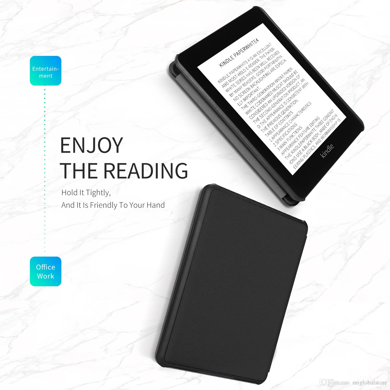 Fashion Ultra Thin Cover For Amazon Kindle Paperwhite 4 Ereader PU Leather  Case For Paperwhite Cover Tablet Pc Cases Tablet Cases 8 From