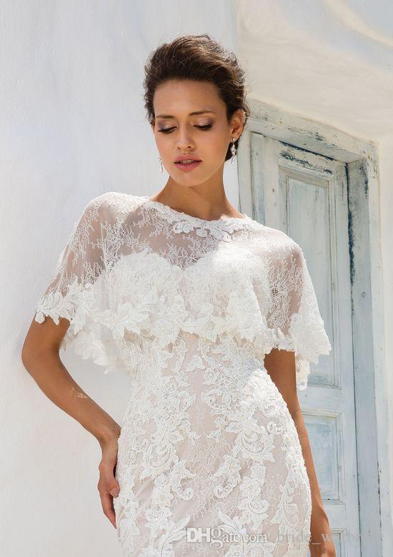 2018 applique Hochzeit Jacke Wraps Für Braut Stehkragen Hochzeit Cape Stickerei spitze Mantel Jacke Braut Bolero Shrug Dubai Abaya