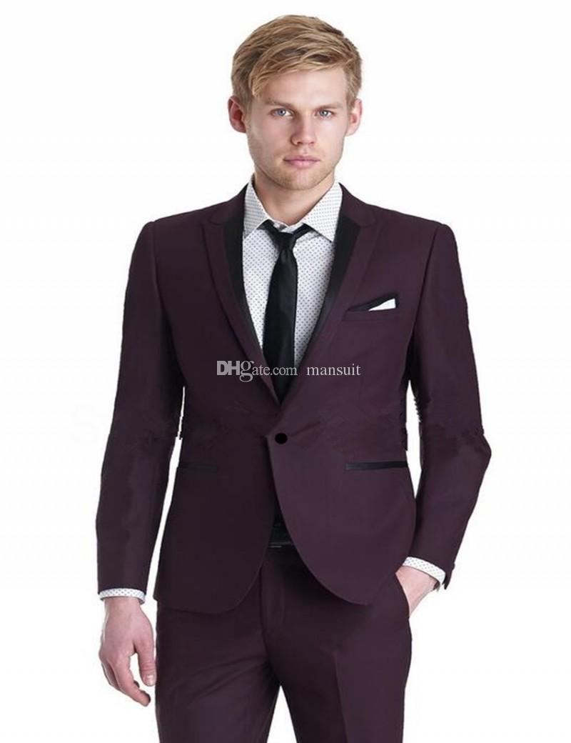 Beaux garçons d'honneur pointe revers marié smokings bleu hommes costumes mariage / prom meilleur homme blazer / époux (veste + pantalon + cravate) M362