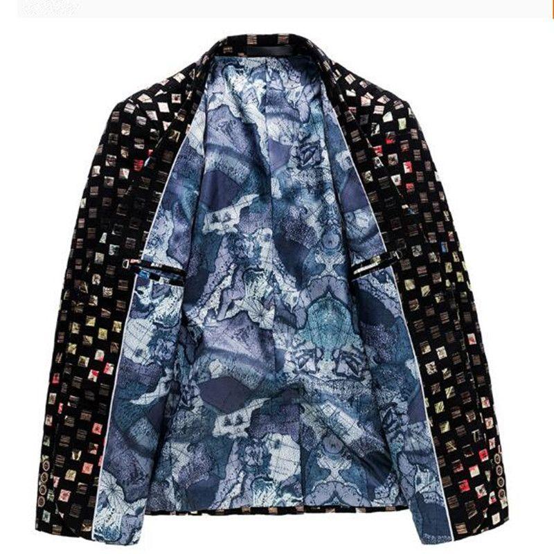 Neue Marke Herren Gedruckt Blazer Canonicals Kleid Männliche Blazer Männer Mäntel Luxus Bühnenanzüge Jacke für Männer plus Größe M-6XL Makjd