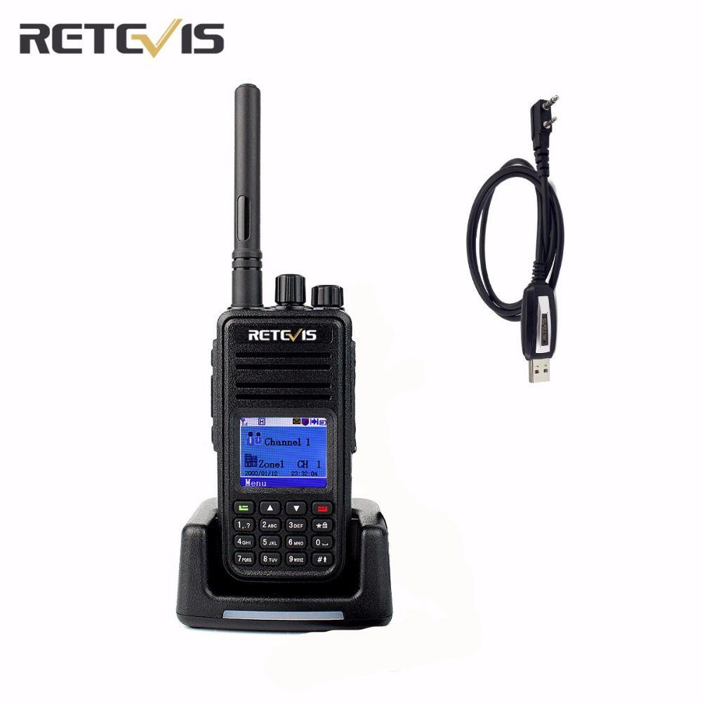 Atacado-DMR Rádio Retevis RT3 Digital Walkie Talkie VHF (UHF) 5W 1000CH criptografia CTCSS DCS varredura SMS Ham Radio Transceptor rádio em dois sentidos