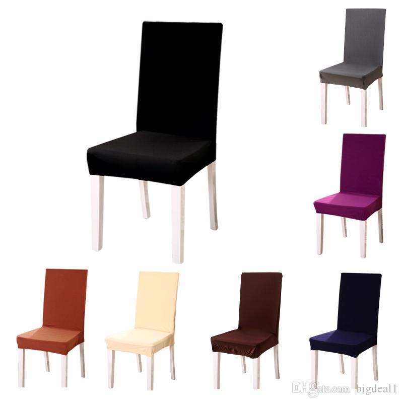 1 Stück 11 Einfarbig Polyester Spandex Stretch Housse Gießen Chaise Für Hochzeit Esszimmerstuhl Sitzbezüge