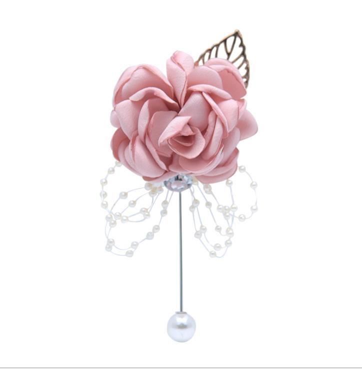 Broche al por mayor novia dama de honor hermana grupo muñeca flor broche suministros de boda los niños bailan mano flor decoración
