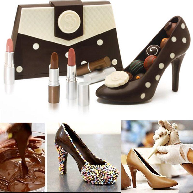 3D Schokoladenform High Heel Schuhe Swan Kandiszuckerpaste Formen Kuchen Dekorieren Tools für Home Back Zucker Handwerk Hochzeitstorte