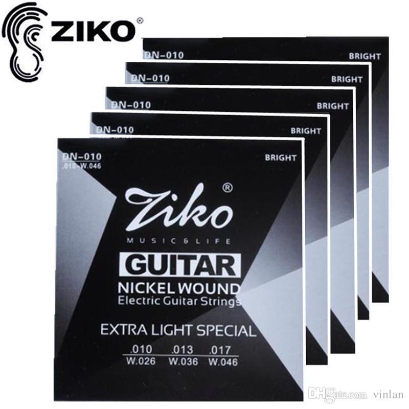 ZIKO .010-.046 DN-010 guitare accessoires pour guitare électrique cordes guitare parties 5 sets / lot