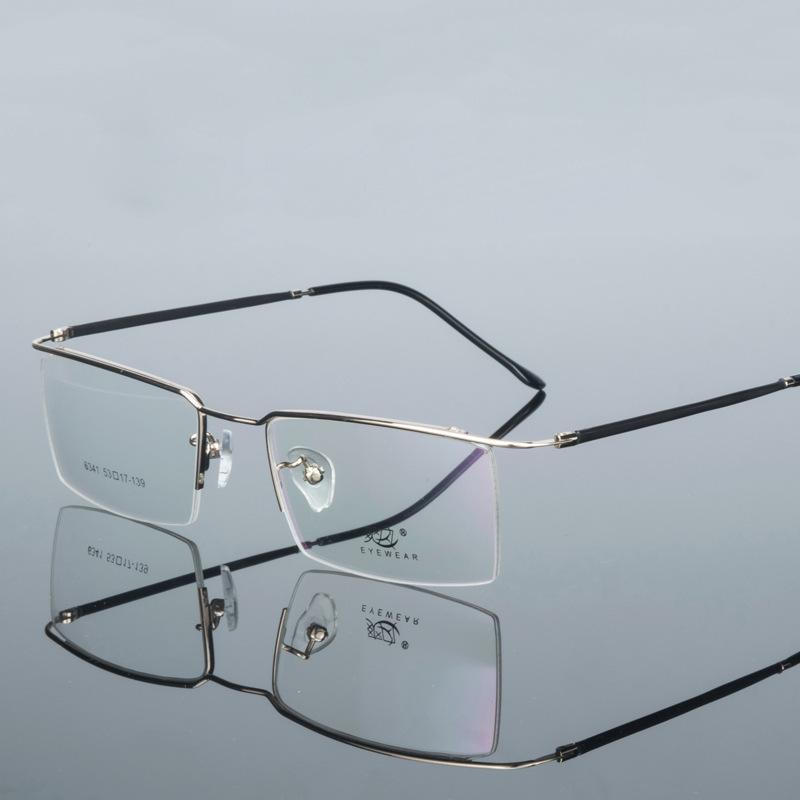 Männer Freizeit Business Flexible Halbrand Brillengestell Augenbrauen Optische Myopie Rahmen Verschreibungspflichtigen Brillen Rahmen