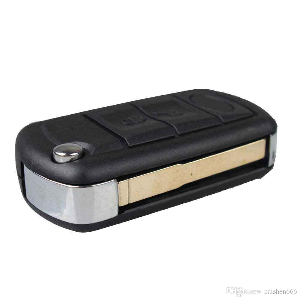 للطي فليب استبدال 3 أزرار مفتاح السيارة النائية فوب مفتاح شل حالة مفتاح غطاء ل سيارة لاند روفر رينج روفر سبورت LR3 ديسكفري