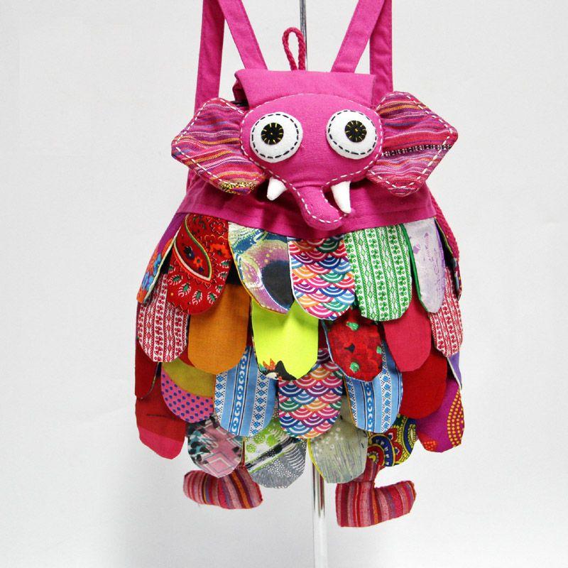 2018 New Kids Bag Backpack Fashion Elephant Style Baby Kids School Bags China's National Characteristics Kids Shoulders Bag Free Shipping