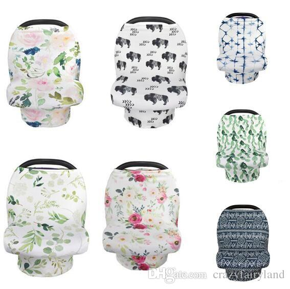 Breastfeeding Nursing Cover Baby Stroller Cover Flower Animal Breathable Covers Multifunction Canopy Kids Care Feeding Cover Blanket