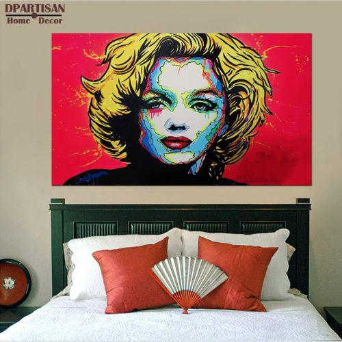 Alec Monopoly Oil Painting on Canvas Graffiti Wall Art High Quality Handmade &HD Print Abstract MARILYN MONROE Multi size /Frame Option g111