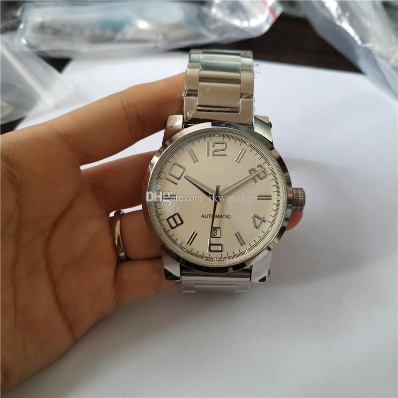 남자 시계 기계식 자동식 남성용 시계 손목 시계 스테인레스 스틸 밴드 MB07